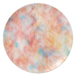 Assiettes En Mélamine Conception abstraite à la mode de papier peint