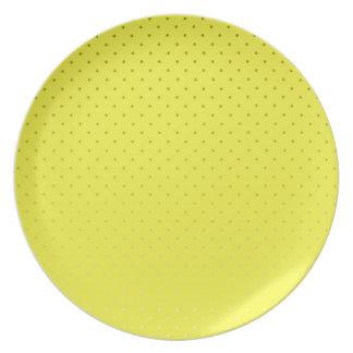 Assiettes En Mélamine Contexte repéré par jaune