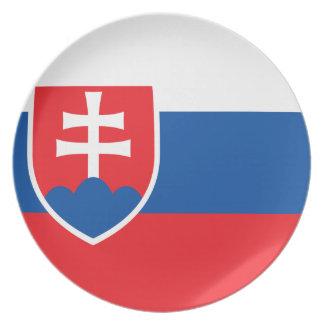 Assiettes En Mélamine Coût bas ! Drapeau de la Slovaquie