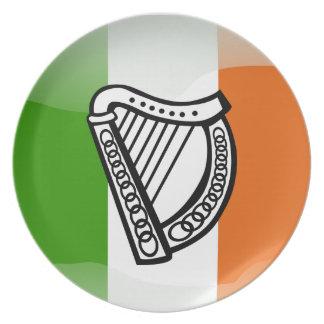 Assiettes En Mélamine Drapeau brillant irlandais