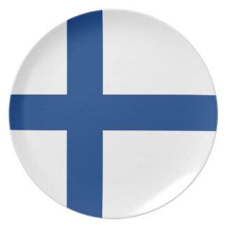Assiettes En Mélamine Drapeau de la Finlande