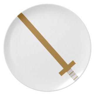 Assiettes En Mélamine Épée en bois