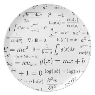 Assiettes En Mélamine Équations de plat de mélamine de maths et de la