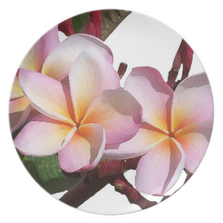Assiettes En Mélamine Fleurs florales de jardin de fleurs