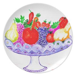 Assiettes En Mélamine Fruit dans l'art de vase