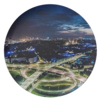Assiettes En Mélamine Horizon de nuit de Riga