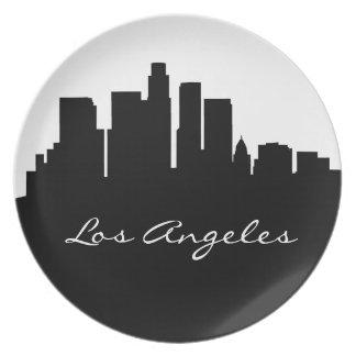 Assiettes En Mélamine Horizon noir et blanc de Los Angeles