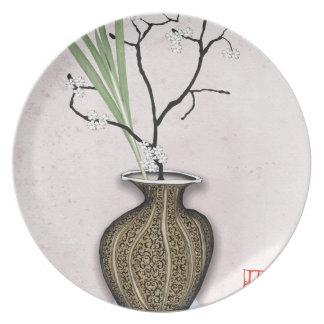 Assiettes En Mélamine Ikebana 1 par les fernandes élégants