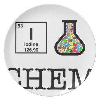 Assiettes En Mélamine J'aime la chimie