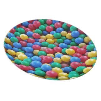 Assiettes En Mélamine Jeu coloré d'enfants de boules de mine de boule