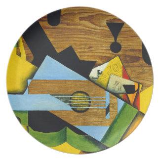 Assiettes En Mélamine La vie toujours avec une guitare par Juan Gris