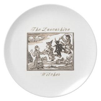 Assiettes En Mélamine Le plat de mélamine de sorcières de Lancashite