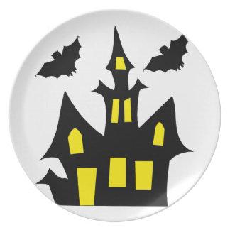 Assiettes En Mélamine maison de Halloween