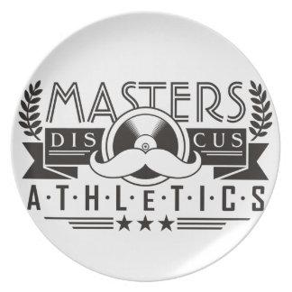 Assiettes En Mélamine maîtrise le disque d'athlétisme
