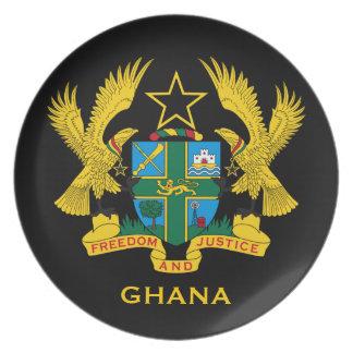 Assiettes En Mélamine Manteau de Ghana* de collecteur de bras
