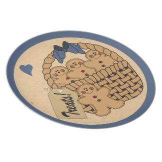 Assiettes En Mélamine Noël décoratif du bleu | du panier | de pain