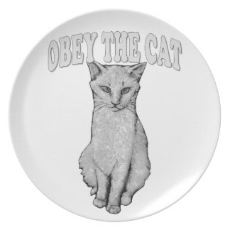 Assiettes En Mélamine Obéissez le chat