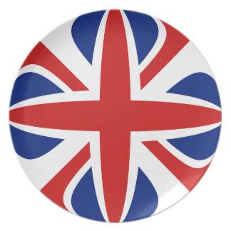 Assiettes En Mélamine Plat BRITANNIQUE de drapeau de Fisheye
