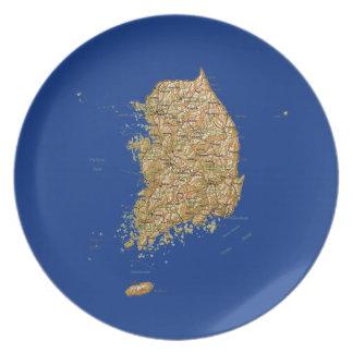 Assiettes En Mélamine Plat de carte de la Corée du Sud