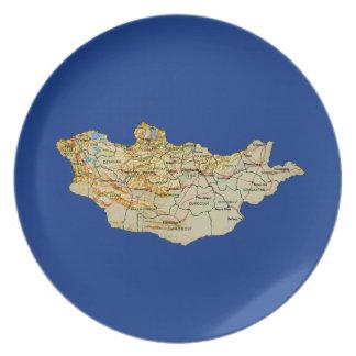 Assiettes En Mélamine Plat de carte de la Mongolie