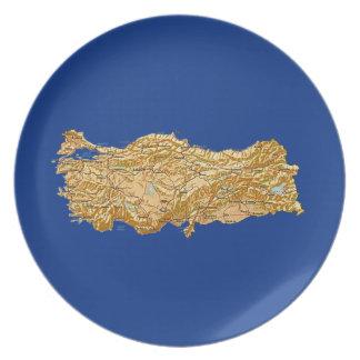 Assiettes En Mélamine Plat de carte de la Turquie