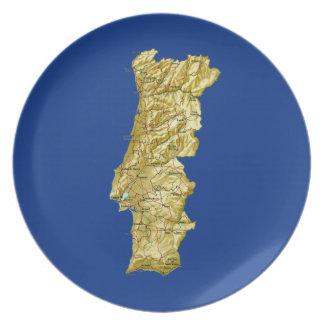 Assiettes En Mélamine Plat de carte du Portugal