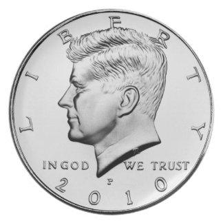 Assiettes En Mélamine Plat de dîner de demi-dollar de Kennedy