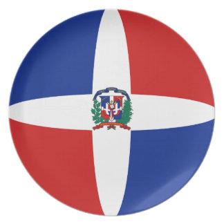 Assiettes En Mélamine Plat de drapeau de Fisheye de la République