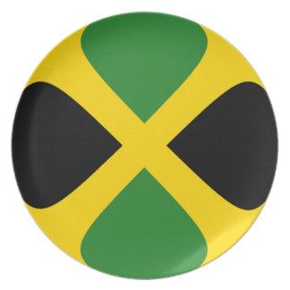 Assiettes En Mélamine Plat de drapeau de la Jamaïque Fisheye