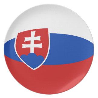 Assiettes En Mélamine Plat de drapeau de la Slovaquie Fisheye