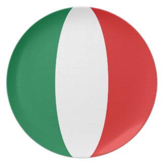 Assiettes En Mélamine Plat de drapeau de l'Italie Fisheye