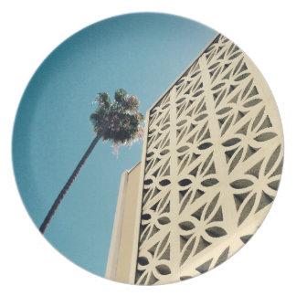 Assiettes En Mélamine Plat de paume de Los Angeles et de mélamine