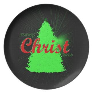 Assiettes En Mélamine Plat de souvenir de vacances d'arbre de Noël