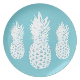 Assiettes En Mélamine Plat fait sur commande de fruit d'ananas fait à