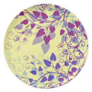 Assiettes En Mélamine Plat floral de natures - tba