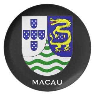 Assiettes En Mélamine Plat historique de souvenir de Macao