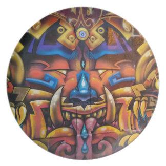 Assiettes En Mélamine Plat tribal