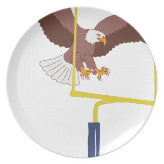Assiettes En Mélamine poteau de but d'aigle