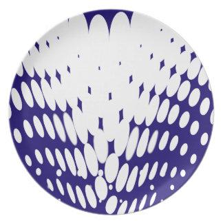 Assiettes En Mélamine Torsion bleue