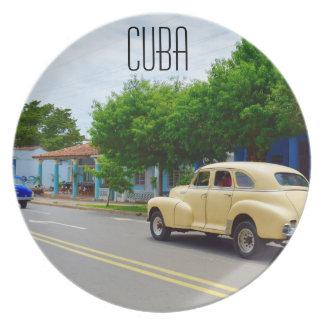 Assiettes En Mélamine Vieilles voitures dans Viñales Cuba