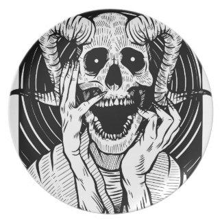 Assiettes En Mélamine visage de diable