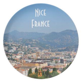 Assiettes En Mélamine Vue aérienne de la ville de Nice en France