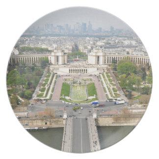 Assiettes En Mélamine Vue aérienne de Paris