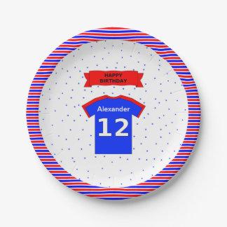 Assiettes En Papier 12ème fête d'anniversaire de nom fait sur commande