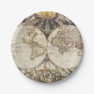 Assiettes En Papier 1702 une nouvelle carte du monde