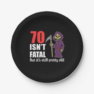 Assiettes En Papier 70 n'est pas la faucheuse mortelle mais encore