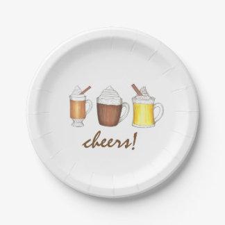 Assiettes En Papier À la votre ! L'hiver boit les plats de fête de