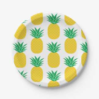 Assiettes En Papier Ananas tropical