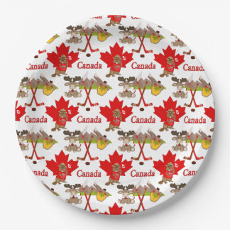 Assiettes En Papier Anniversaire du Canadien 150 de feuille d'érable