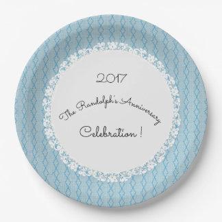 Assiettes En Papier Anniversary-Celebration_Diamond-Threads_Blue_Lace